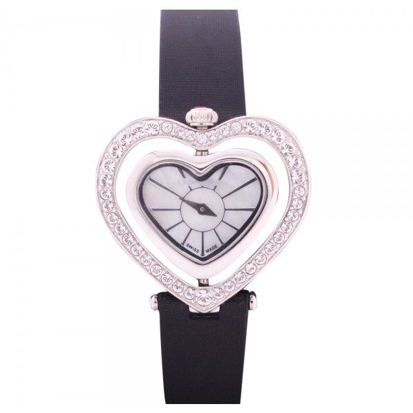 Christian Lacroix Swiss Made Leather watch Heart Shaped Dial for Women 8002301SM Silver