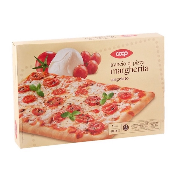 Coop Frozen Pizza Margherita Slice 400g