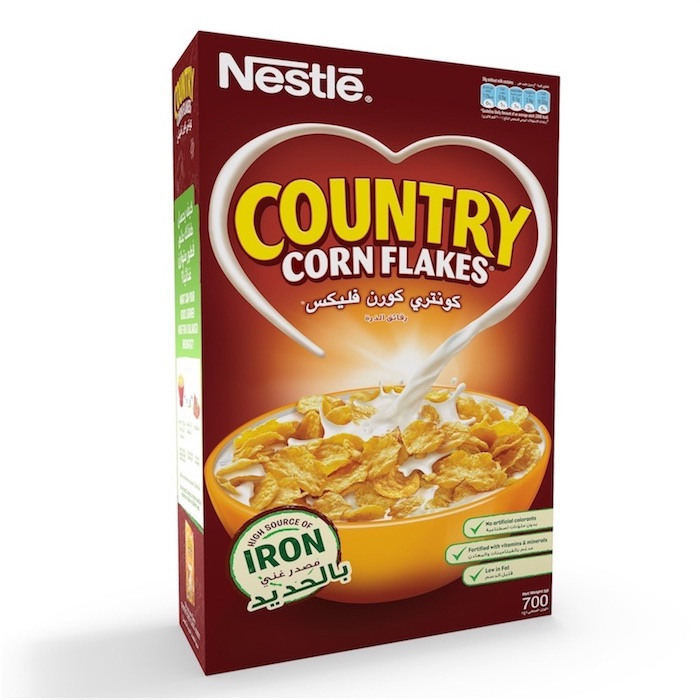 Nestle Country Corn Flakes Breakfast Cereal 700g