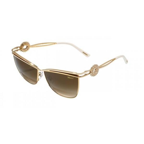 Chopard SCHB26S 0H32 Women's Sunglasses - Gold Shine/Gold Mate (Gradient Brown)