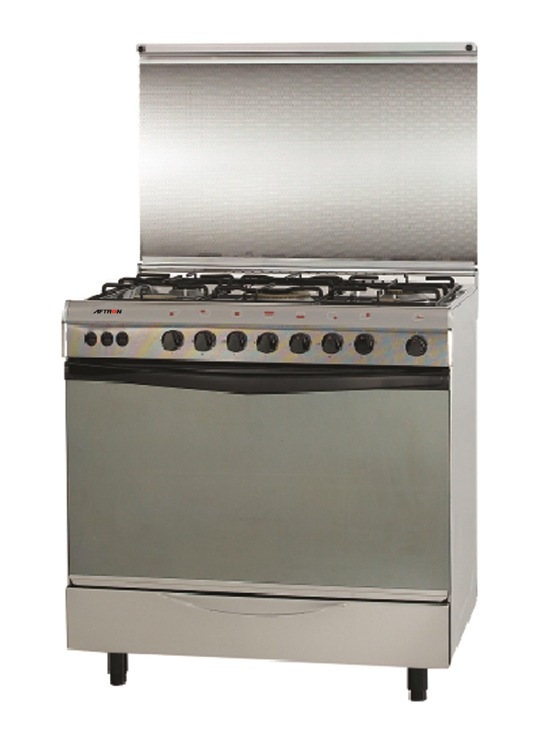 Aftron 80X55 cms Gas Cooking Range, AFGR8055FST
