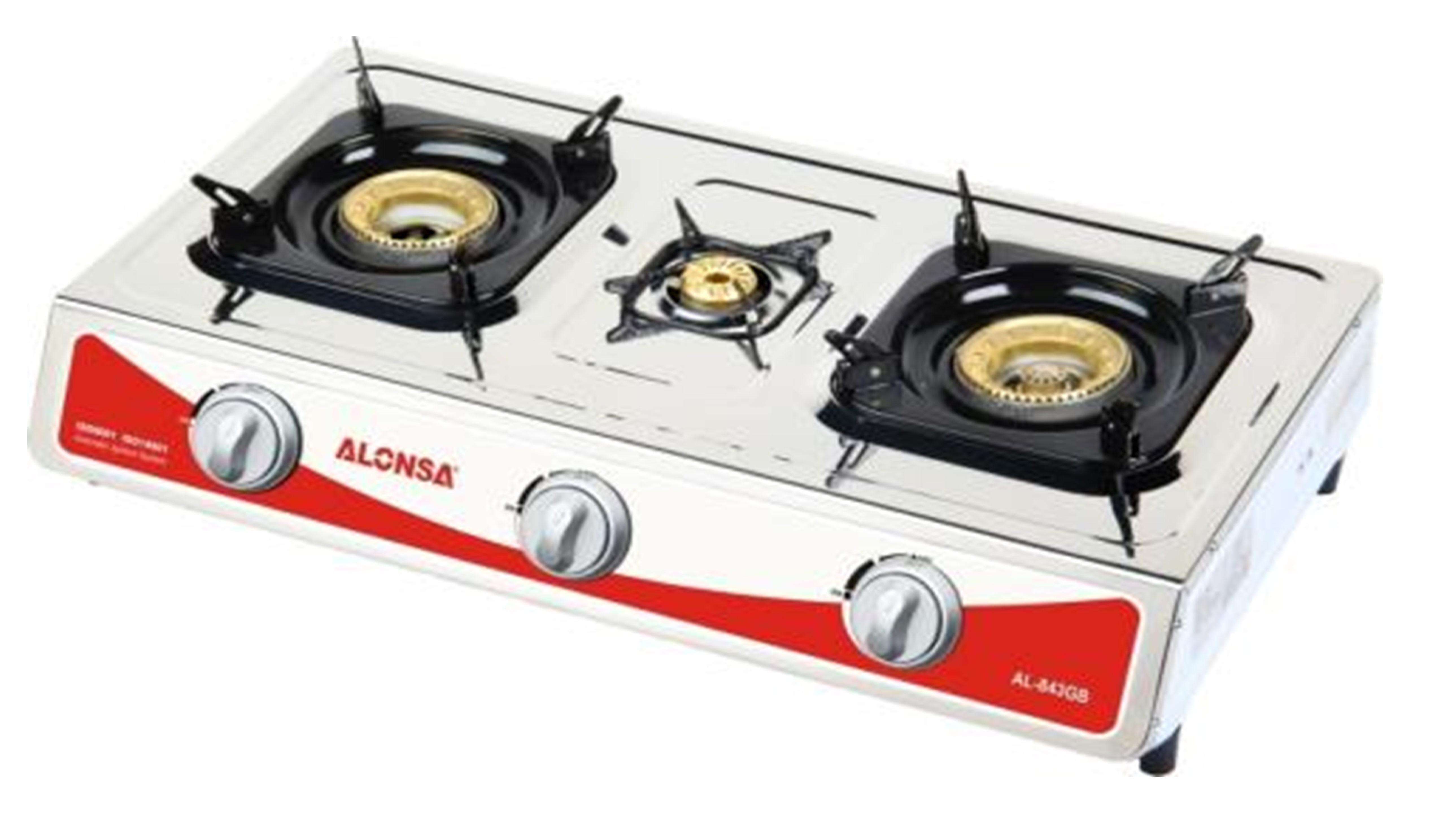Alonsa Table Top 3 Gas Burner - Stainless Steel , AL-944 GB FFD