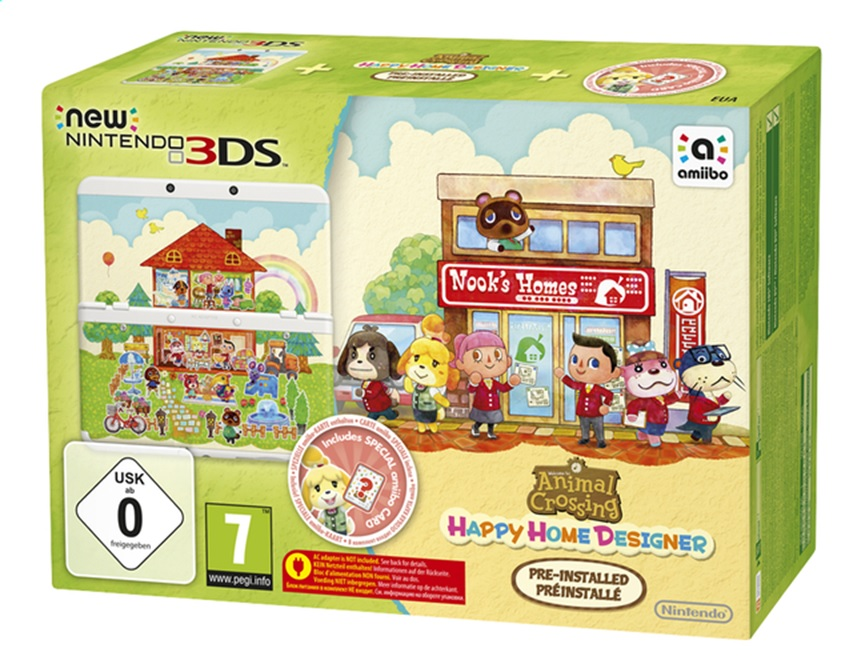 Nintendo New 3DS Console + Happy Home Designer HW3D-426071