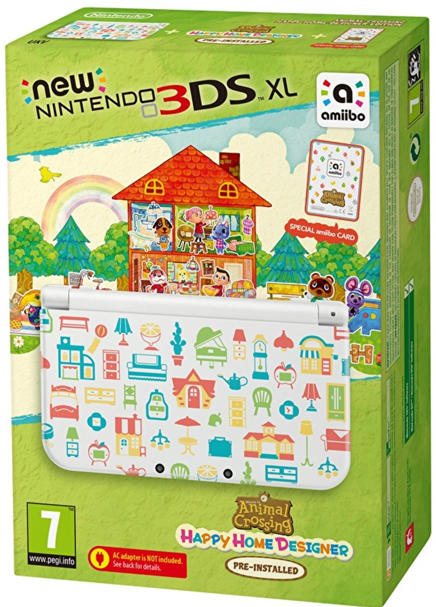 New Nintendo 3DS XL - Includes Animal Crossing: Happy Home Designer HW3X-426088