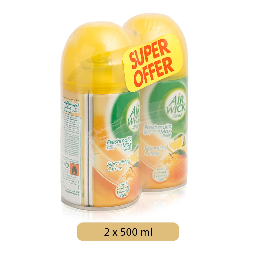 Air Wick Sparkling Citrus Freshmatic Max Refill - 2 x 250 ml