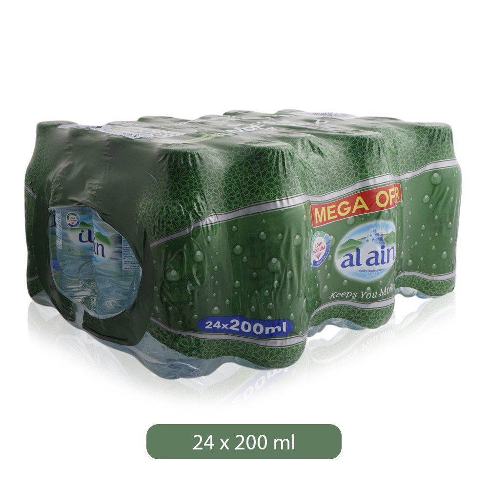 Al Ain Water Shrink, 200ml – Pack of 24