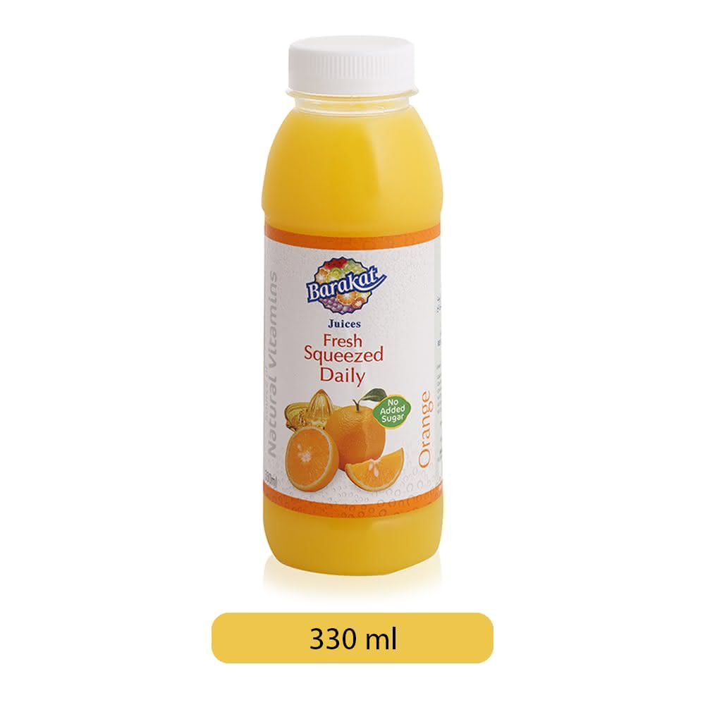Barakat Fresh Squeezed Daily Orange Drink - 330 ml