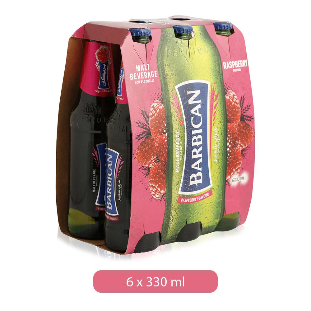 Barbican Raspberry Flavor Non Alcoholic Malt Beverage - 6 x 330 ml