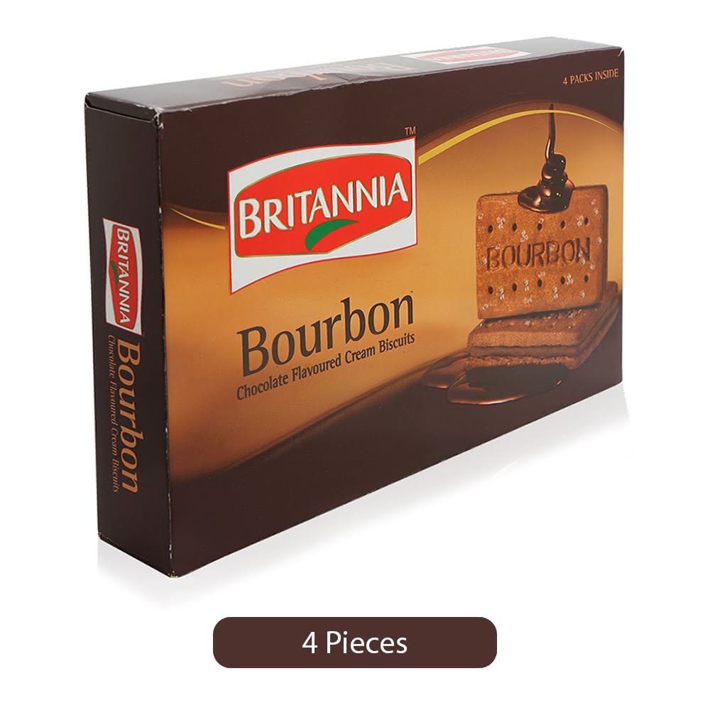 Britannia Bourbon Chocolate Flavored Cream Biscuits - 400 g