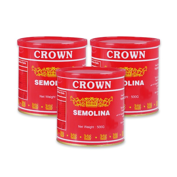 Crown Semolina 3 x 500gm