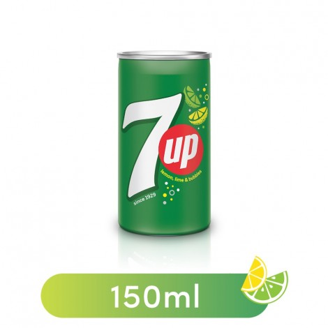 7UP, Carbonated Soft Drink, Mini Can, 150 ml