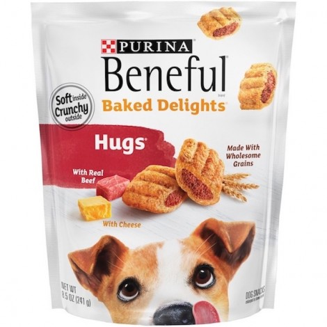 Purina Beneful Baked Delights Hugs With Beef & Cheese Dog Treats 312g