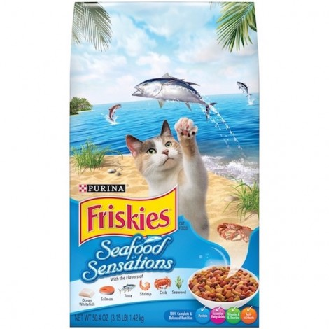 Purina Friskies Seafood Sensations Cat Dry Food 1.43Kg