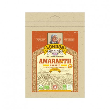 London Super Food Amaranth : Grains : Organic, 500 gm