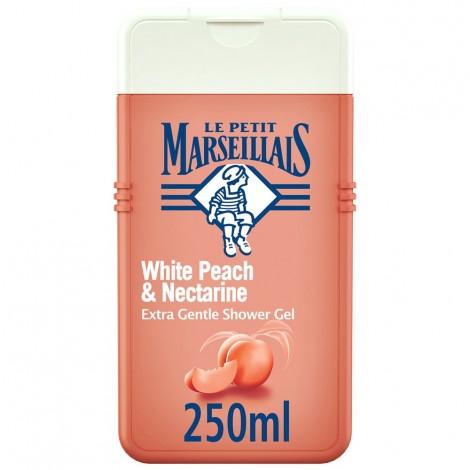 LE PETIT MARSEILLAIS, Shower Cream, White Peach & Nectarine, Extra Gentle, 250ml