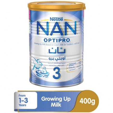 Nestle Nan Optipro Stage 3 (1-3 Years Old) Premium growing-Up Formula Powder Tin 400g