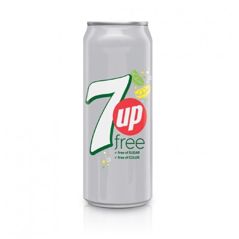 7UP Free, Carbonated Soft Drink, Can, 355 ml