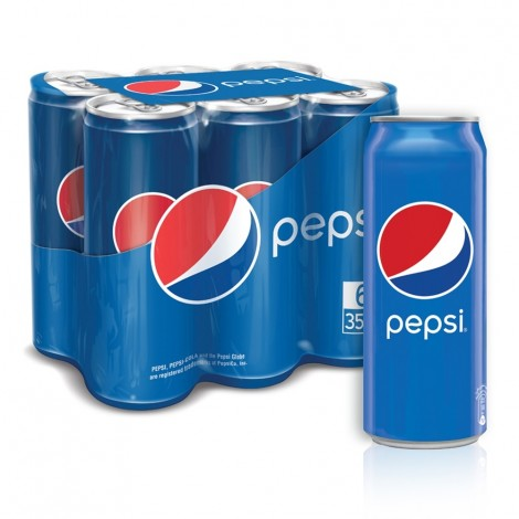 Pepsi, Carbonated Soft Drink, Cans, 355 ml x 6