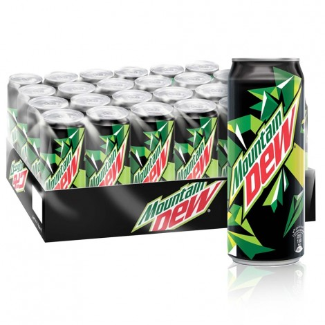 Mountain Dew, Carbonated Soft Drink, Cans, 355 ml x 24