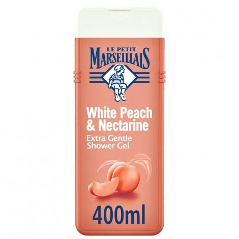 LE PETIT MARSEILLAIS, Shower Cream, White Peach & Nectarine, Extra Gentle, 400ml