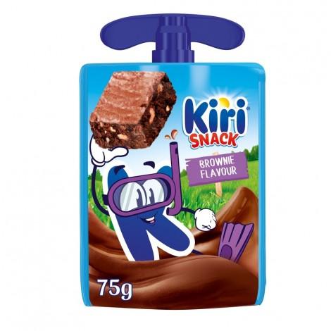 Kiri Snack Dairy Dessert Pouch, Brownie Flavour, 1 Pouch, 75g