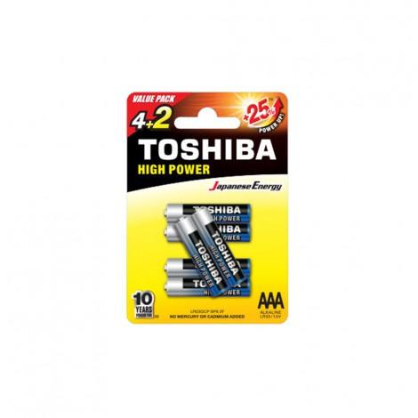 Alkaline - TOSHIBA Battery LR 03 AAA 4+2