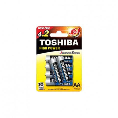 Alkaline - TOSHIBA Battery LR 06 AA 4+2