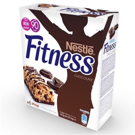 Nestle Fitness Chocolate Breakfast Cereal Bar 23.5g, 6 Pcs