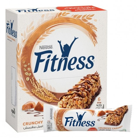 Nestle Fitness Crunchy Caramel Oats Breakfast Cereal Bar 23.5g (6 Bars)