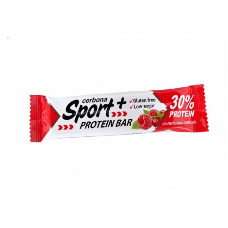Cerbona Sport + protein bar with red fruit - 50g