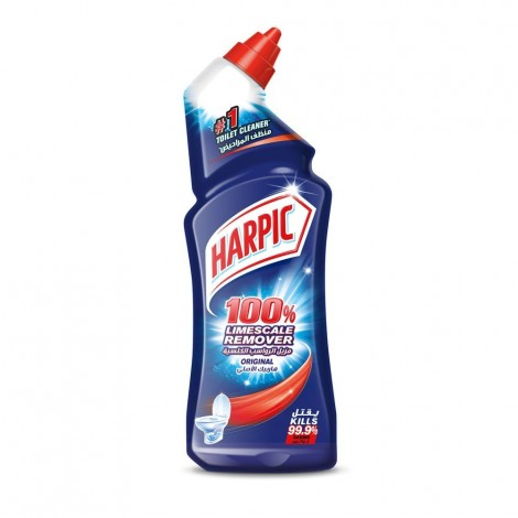 Harpic Toilet Cleaner Liquid Limescale Remover Original, 1L