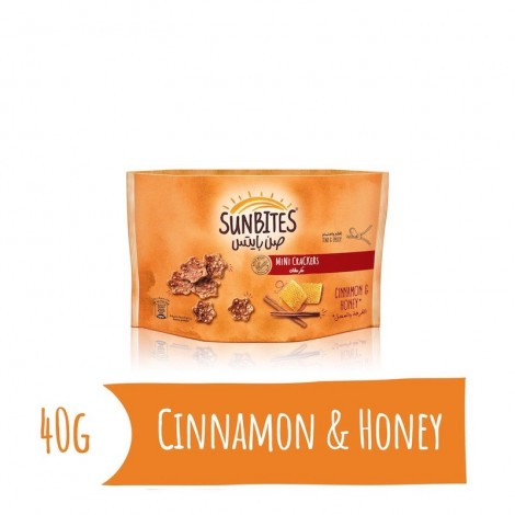 Sunbites Cinnamon & Honey Mini Crackers, 40g
