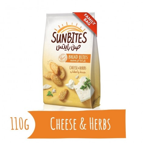 Sunbites Cheese and Herbs Bread Bites, 110g
