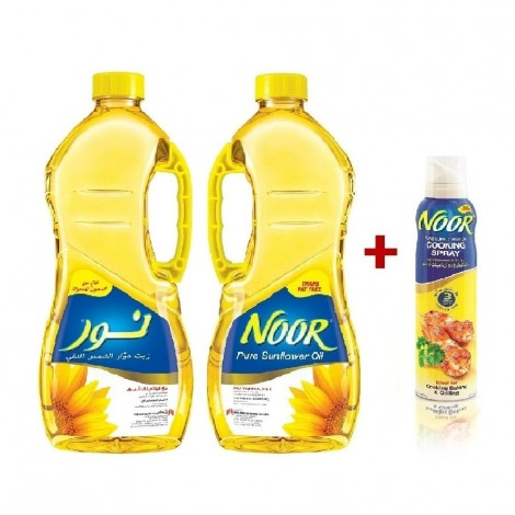 Noor Sunflower Oil, 2x1.8L+ Sfo Spray 100ml