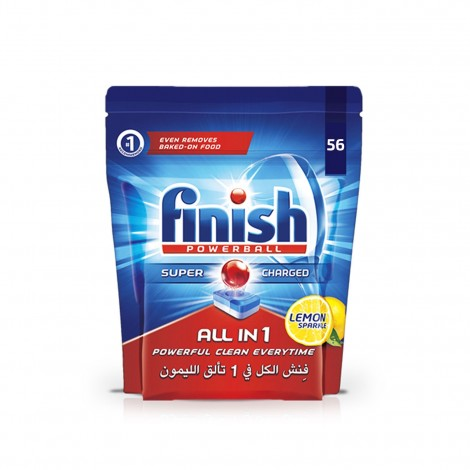 Finish Dishwasher Detergent All in One Tabs Lemon, 56s
