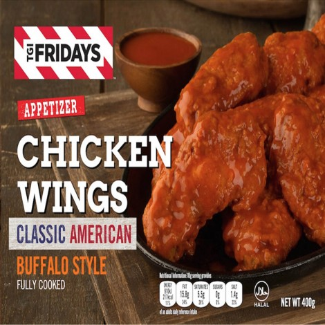 TGIF Chicken Wings Buffalo Style Spicy - 400gm