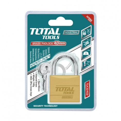 TOTAL Brass Padlock 40 mm
