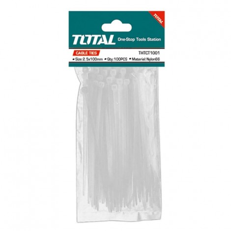 TOTAL Cable Ties 100 mm (100pcs Pack)