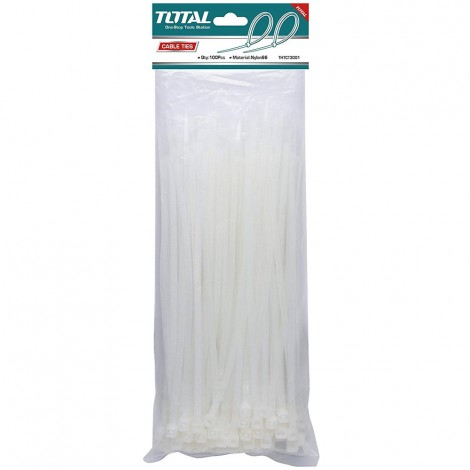 TOTAL Cable Ties 200 mm (100pcs Pack)