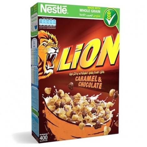 Nestle Lion Caramel & Chocolate Breakfast Cereal - 400 gm