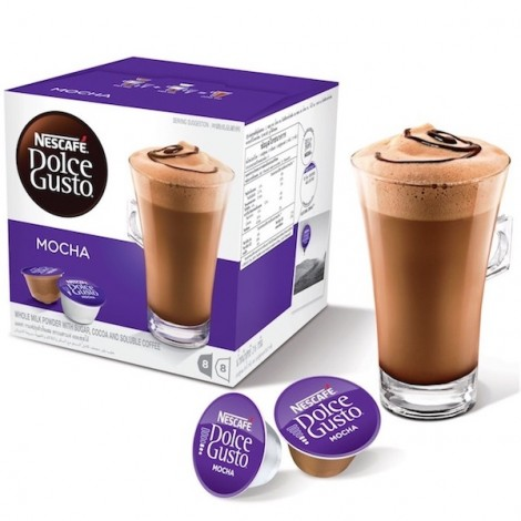 Nescafe Dolce gusto Mocha Coffee Capsules (16 Capsules, 8 Cups)