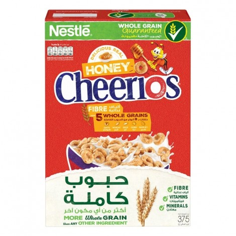 Nestle Honey Cheerios Breakfast Cereal 375g