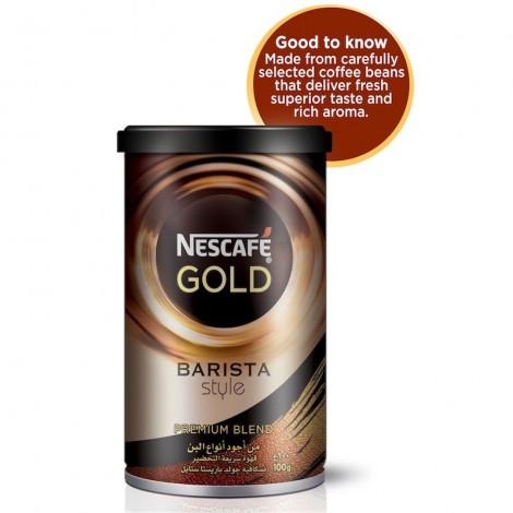 Nescafe gold Barista Style Instant Coffee 100g Tin, 6 Pcs