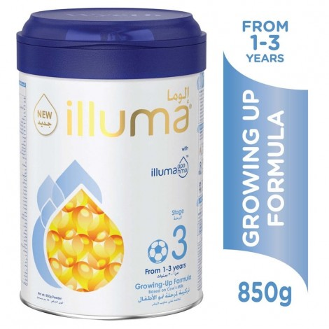 Wyeth Nutrition Illuma HMO Stage 3, 1-3 Years Super Premium Milk Powder for Toddlers Tin, 850g