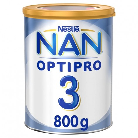 Nestle NAN OPTIPRO Stage 3 From 1 to 3 years Growing Up Milk Based on Cow's Milk for Toddlers – with Iron 800g