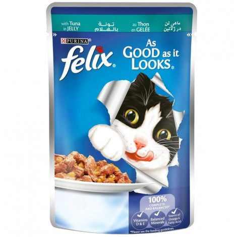 FELIX As Good as it Looks Tuna Wet Cat Food Pouch 100g
