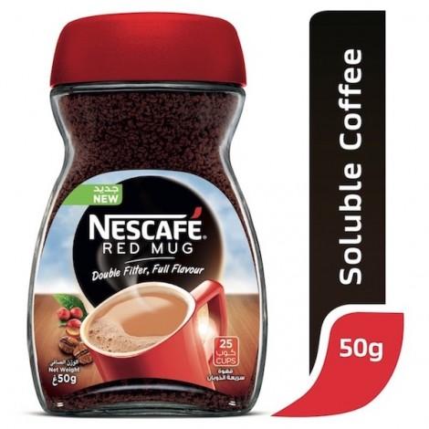 Nescafe Red Mug Instant Coffee 50g Jar, 24 Pcs