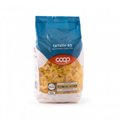 Coop Durum Wheat Pasta Farfalle N 85 500g