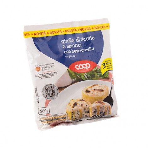 Coop Frozen Girelle With Ricotta, Spinach And Besciamella 560g