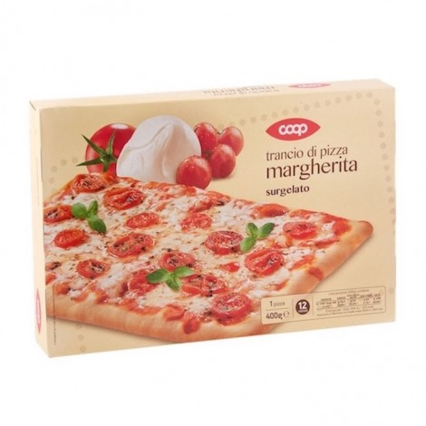 Coop Frozen Pizza Margherita Slice 400g